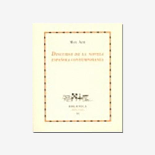 Discurso de la novela espanola contemporanea. N. 14. Max Aub. 20